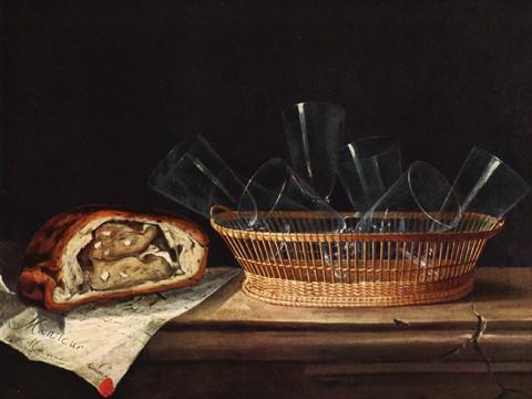 Stillleben mit Gläsern und Pastete, um 1640